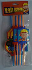 10 packs of 8 Bob the Builder Drinking Straws