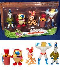 New REN & STIMPY Collector 5 FIGURE SET Nickelodeon MR HORSE Powdered Toastman