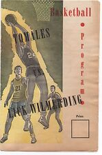 1950s High School Basketball Program Tomales vs Lick Wilmerding