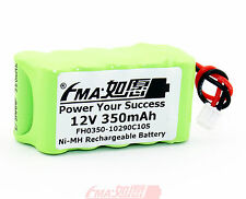 12V Battery Ni-MH Rechargeable cell 350mAH w/EH 2P plug 20*31*57mm 10SZ