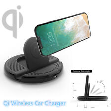 Car Wireless Charging Stand QI Charger Mount for iPhone8/8Plus/X Galaxy S8/S7/S6