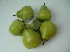 Faux Fake Pears Lot of 6 Home Kitchen Decor Pottery Barn.