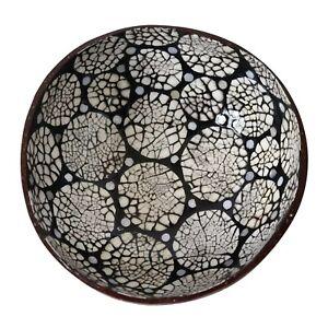 Vintage Coconut Shell Bowl Creative Vintage Fruit Salad Noodle Rice Bowls Art
