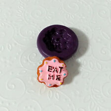 Silicone Mold EAT ME Cookie Alice Wonderland (21mm) Polymer Clay Fimo Premo PMC