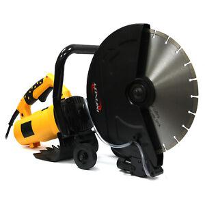 "Electric 14"" Circular Concrete Cut Off Saw Cutter Wet Dry Masonry Paver Cut Saw"