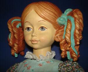 "Vintage Dolfi NADIA Jointed Wooden 13"" Artist Doll Ado Santini Italy c1990"