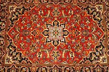 c1930s ANTIQUE EXCELLENT QUALITY KORK WOOL PERSIAN KASHAN RUG 2.4x3.3 HIGH KPSI