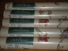Imperial Home Décor Wallpaper 5 Double Rolls Scroll Floral Beige Amethyst Sage