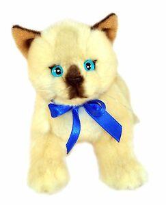 Cat Kitten Siamese Plush Stuffed Toy 22.5cm/9in Bamboo by Bocchetta