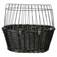 Trixie Cesta de bicicleta con enrejillado Negro, 50 x 41 x 35 cm, NUEVO