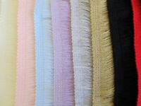 BRUSH FRINGE 38mm Wide per metre Soft Cut Trim Shawl Baby DISCOUNT for 10m/25m