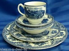 Johnson Brothers Old Britain Castles OBC Blue 5 Piece Setting