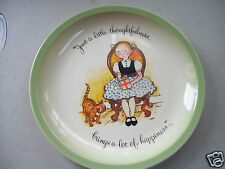 """Holly Hobbie 10"""" Plate """"Just A Little Thoughtfulness brings Lots Of Happiness"""""""