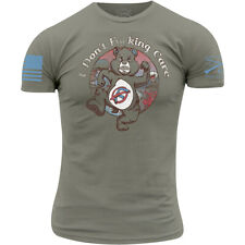 Grunt Style I Don't Fcking Care T-Shirt - Warm Gray