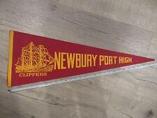 Newbury Port Massachusetts Mass MA High School Felt Pennant Flag NewburyPort