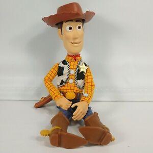 """Vintage Disney Pixar Toy Story WOODY Pull-String Talking 15"""" Doll Thinkway Read"""