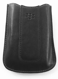 """GENUINE BLACKBERRY BLACK LEATHER LOOK MOBILE CELL PHONE CASE ACCESSORY 4 x 3 """""""