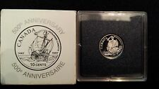 CANADA 1997 Silver Giovanni Caboto 10 cents Proof Dime - John Cabot - Cracked