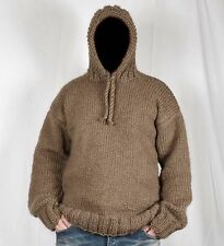 Hand Knitted 100% WOOL Pullover Men Sweater * hoodie * SOFT Jumper