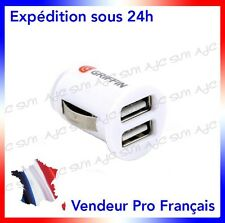 Chargeur Allume Cigare Double Port Usb Griffin Pour Samsung Blue Earth