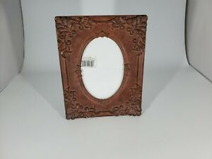 Vintage Burnes of Boston Brown Heavy Photo Frame 4 x 6