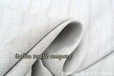 A122 Made in Italy SUPER FINE COTTON BLEND IVORY SHADOW STRIPE YARN DYE FABRIC