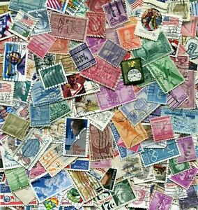 USA United States America Off-paper Stamp Lot Mix - 25 grams / 300 stamps