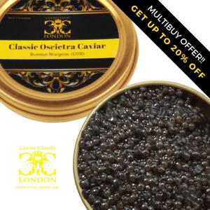 30-250 gr Classic Asetra/Oscietra caviar.