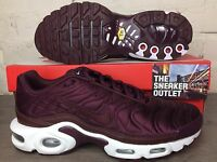 Womens Nike Air Max Tuned Plus SE UK Size 6.5 Trainers Satin Sneakers 95 TN Red