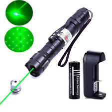 Tactical Green 5mw 532nm Laser Pointer Lazer Pen Visible Beam Zoom+18650 Battery