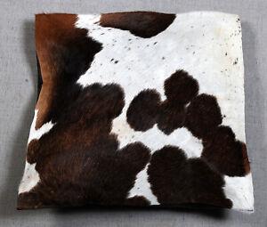 100% NEW COWHIDE LEATHER CUSHION COVER RUG COW HIDE HAIR ON CUSHION SA-7632