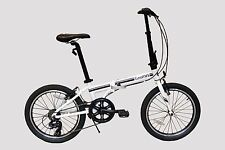 "EUROMINI-ZIZZO CAMPO 20"" 7-SPEED ALUMINUM FRAME FOLDING BICYCLE IN WHITE"