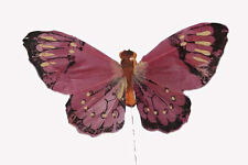"""5"""" Artificial Decorative Fake Feather Butterflies 12 Pc. $7.94 BF165 New"""