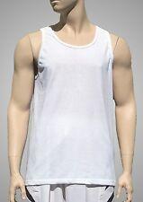Augusta White Light Weight Plain Poly/Cotton Tank Top - Men's Large
