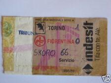 TORINO - FIORENTINA BIGLIETTO TICKET 1988 / 89