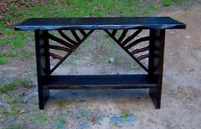 Sofa Console Table Rustic Modern Entry Log Cabin Furniture Ebony FREE S/H