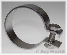 1 x 48,5mm DIN Schelle V2A Edelstahl 1.90 Zoll Auspuffklemme Rohrschelle PKW LKW