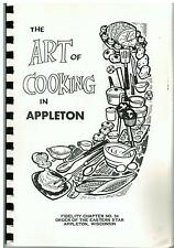 *THE ART OF COOKING IN *APPLETON WI 1964 *EASTERN STAR *OES COOK BOOK *LOCAL ADS