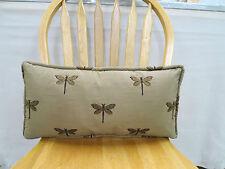 Robert Allen Fast Flying Bronze Embroidery Pillow Feather/Down Insert 19 x 10