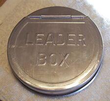 "DISPENSING LEADER TIN BOX 08/23/16NY READ DESC.  FLY FISHING  9/16"" x 4"""