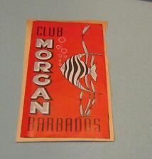 1952 Barbados Nightclub Club Morgan Brochure Dining Dancing Rendezvous Photos