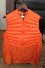 Nike Running XL Aeroloft (Goose Down 800) Orange Vest Full Zip