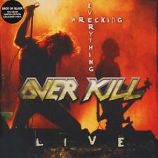 OVERKILL – WRECKING EVERYTHING LIVE 2X 180G LIMITED RED VINYL LP (NEW/SEALED)