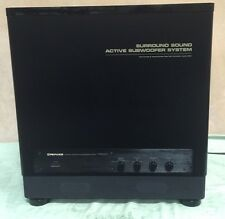 "Pioneer S-W1000 BIG LOUD 12"" Powered Subwoofer Center Channel Amplifier System"