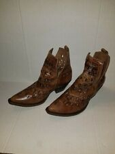 Ariat Dixon Studded  Womens Ankle Boots Size 7B Brown Cutout Design 10019982
