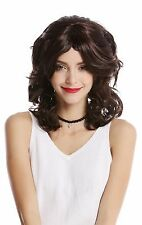 Women's Wig Carnival Halloween Dark Brown Wavy backcombs Parted