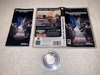 Transformers The Game (Sony PSP, 2007) PlayStation Portable Complete Nr Mint!