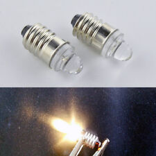 4xE10 Led Flashlight Replacement Bulb Torch Lamp Light Warm White 3V 0.1W 20LM