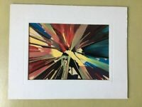 Vintage Spin Art Souvenir Carnival Matted Painting Provincetown MA abstract