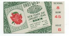 1946 Ticket from the Pasadena Rosa Bowl USC vs Alabama